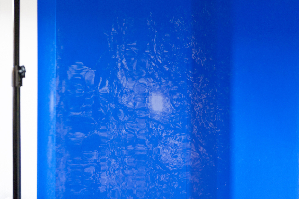 White Section, Blue Gel, 2014