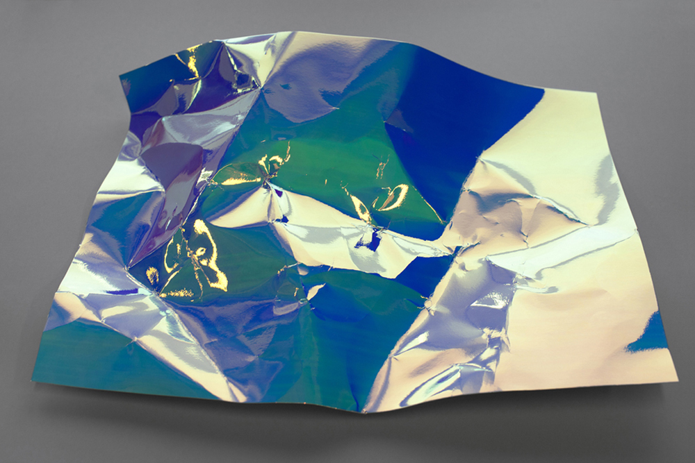 Sheet - Blue turning Green, 2013