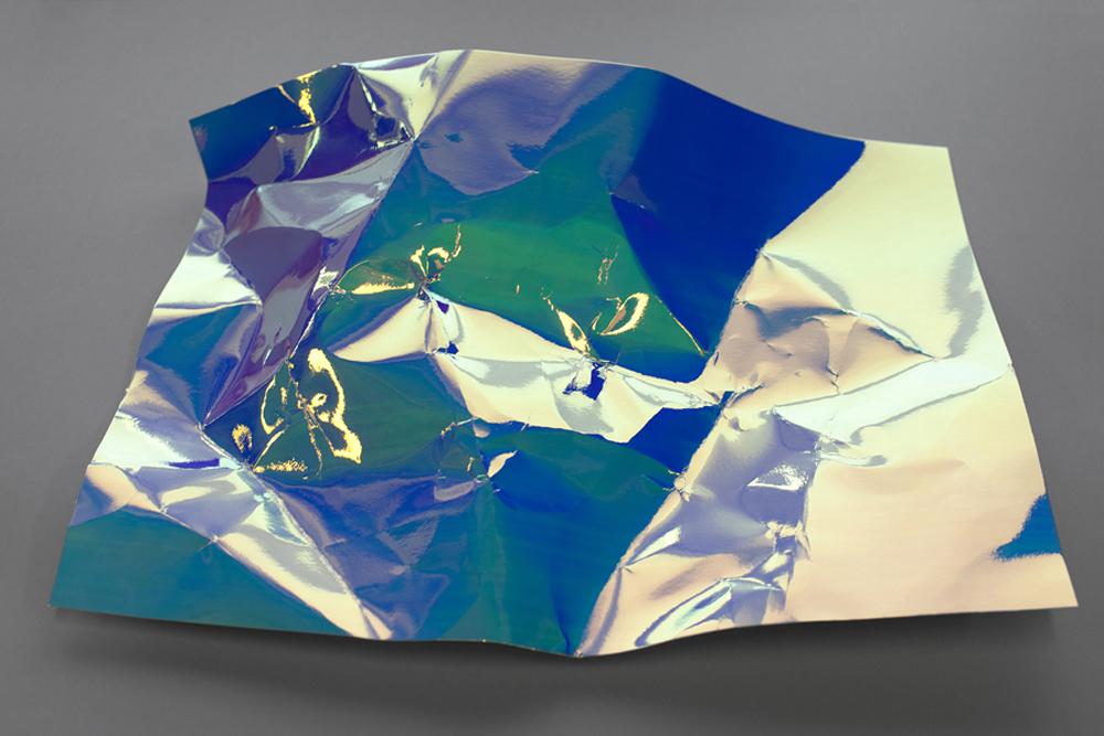 Sheet - Blue turning Green, 2013